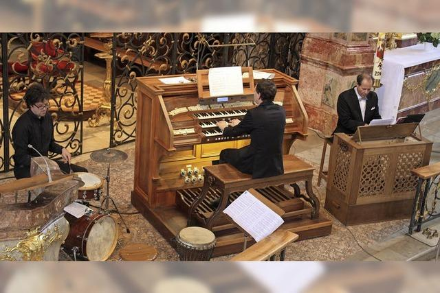 Orgelspiel im fliegenden Wechsel