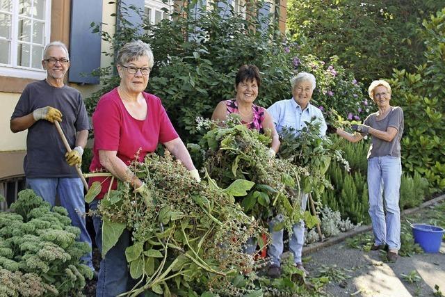Einsatz fürs Grün im Dorf