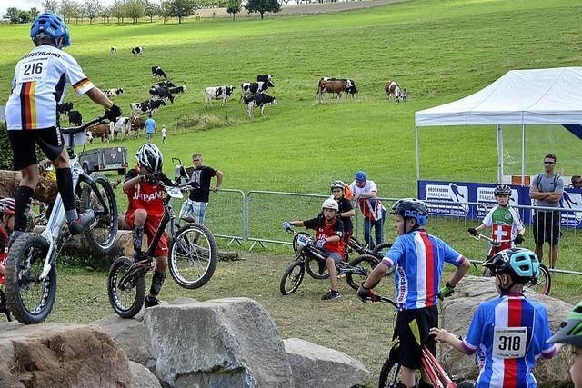168 Radsportler aus 17 Ländern maßen sich bei der Trial-Meisterschaft
