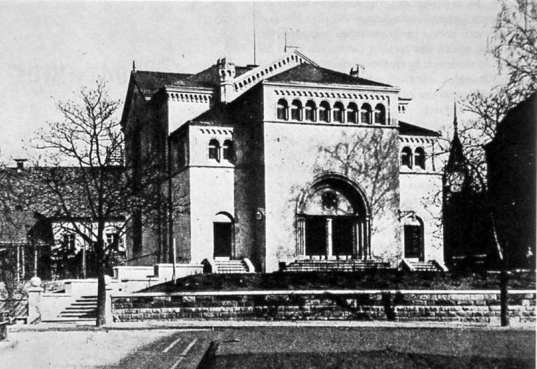 Die ehemalige Synagoge, die in den 20e...rt wurde.  Blick von der Sedanstraße.   | Foto: Kalchthaler