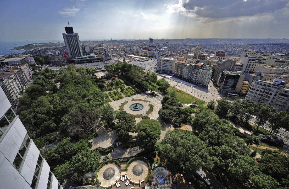 Der Gezi Park in Istanbul wurde 2013 z...vilen Widerstand gegen die Regierung.     Foto: AFP