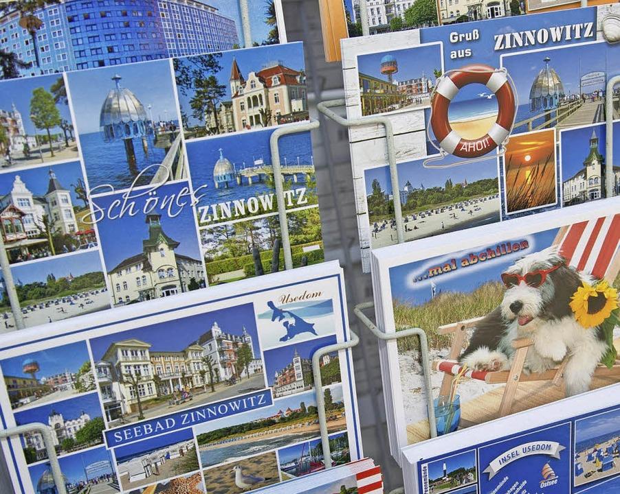 Postkartenständer in Zinnowitz  | Foto: dpa