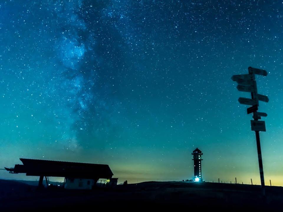 Sternschnuppen sind von einem Aussichtspunkt besonders gut zu sehen.  | Foto: Klaus Hansen
