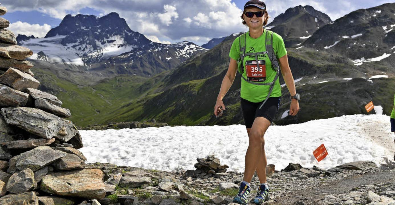 Die höchste Stelle beim 76 Kilometer langen Lauf bei Davos  ist auf 2700 Metern.  | Foto: ZVG/Sophia Hesser