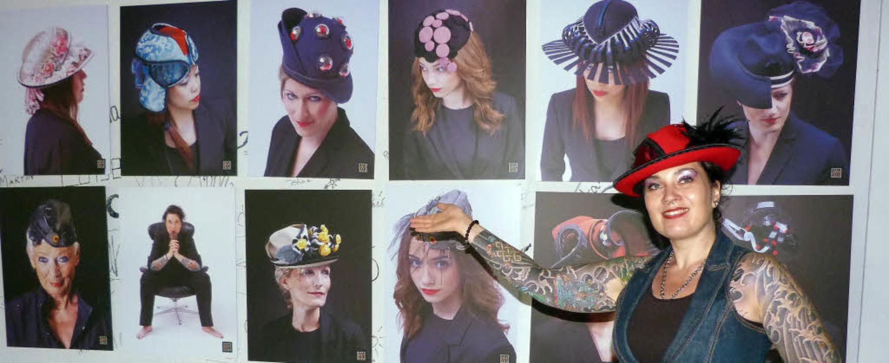 Die Freiburger Hutdesignerin Mirija de...ihrer ersten Hutkollektion ausgewählt.    Foto: Christine Weirich