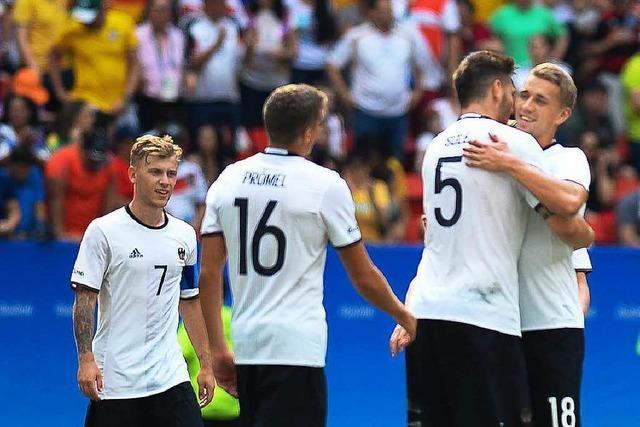 Deutsche Fußballer ziehen in Olympia-Halbfinale ein