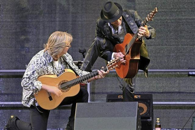 Duo Magic acoustic Guitars in Schluchsee