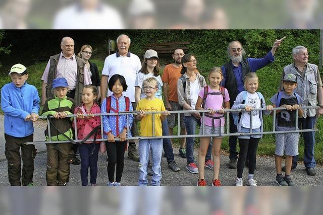 Mit Kindern die Nistkästen im Wald inspiziert
