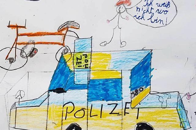 Vermisstes Kind bedankt sich mit Bild bei der Polizei