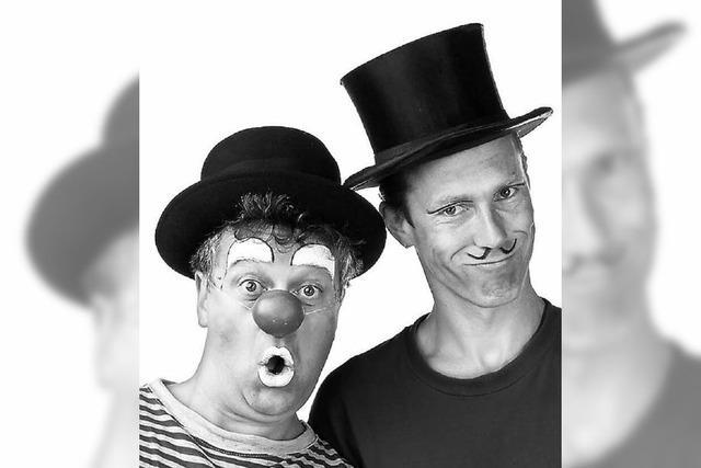 Clowntheater mit Beppo (Roland Kurz) und Ferdinand (Uwe Spille) in Bonndorf und St. Blasien