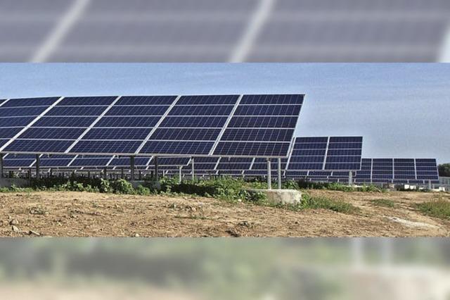 Im Solarpark beginnt der Testbetrieb