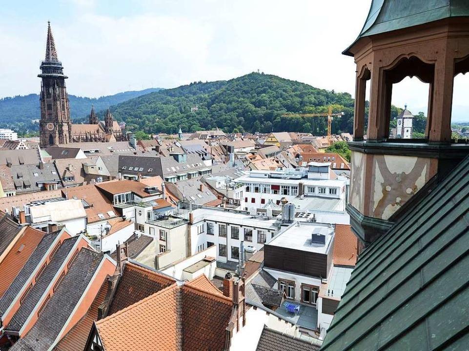 Das Münster – zum Greifen nah.    Foto: Rita Eggstein