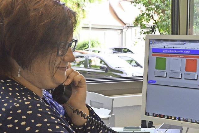 Digitales Warten im Rathausfoyer