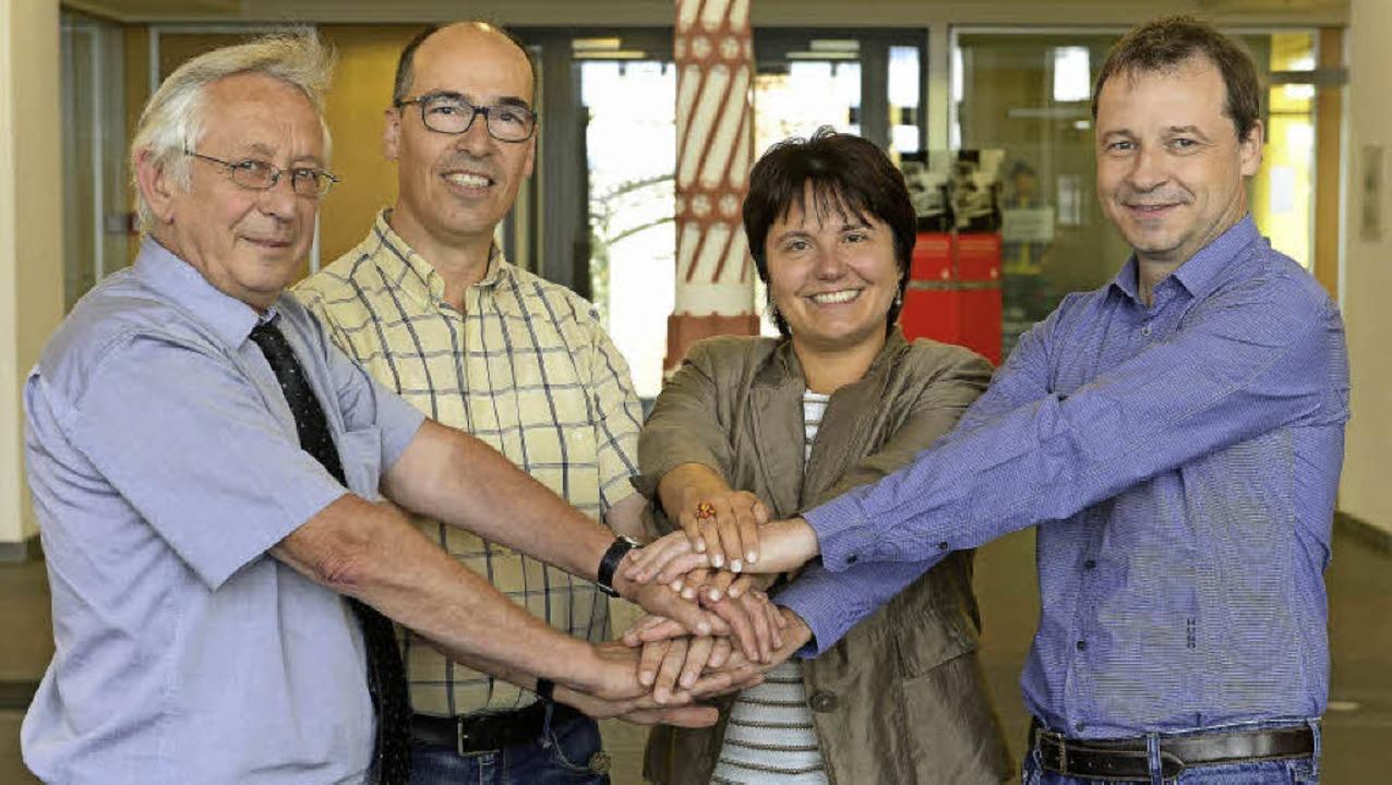 Sie wollen mit ihrem Netzwerk Familien...e Würth und Marcus Simon (von links).   | Foto: Ingo schneider