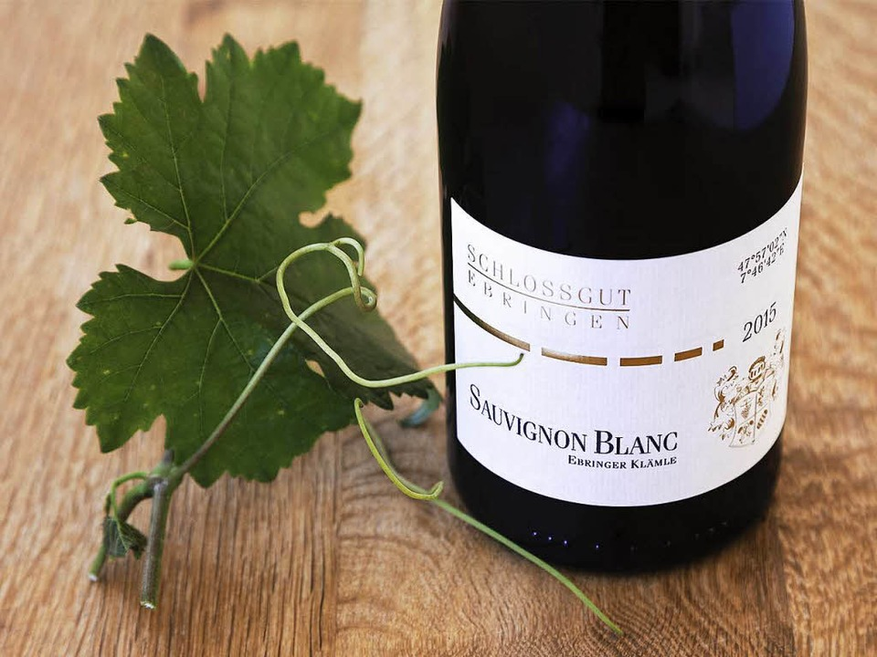 """Der Sauvignon Blanc """"Klämle&#822... den Besten seiner Art in Deutschland.    Foto: Michael Wissing"""