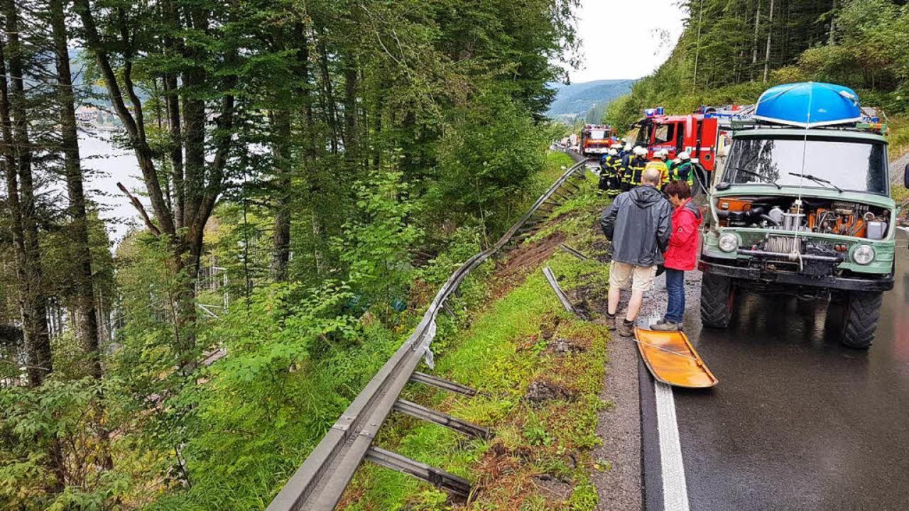 Rettungseinsatz an der B 317  | Foto: kamera24.tv