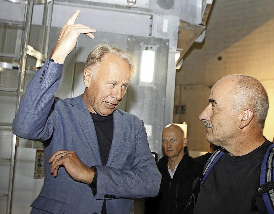 Windkraftanlagen gehört die Zukunft, mahnte Jürgen Trittin auf dem Langenhard.     Foto: heidi fössel