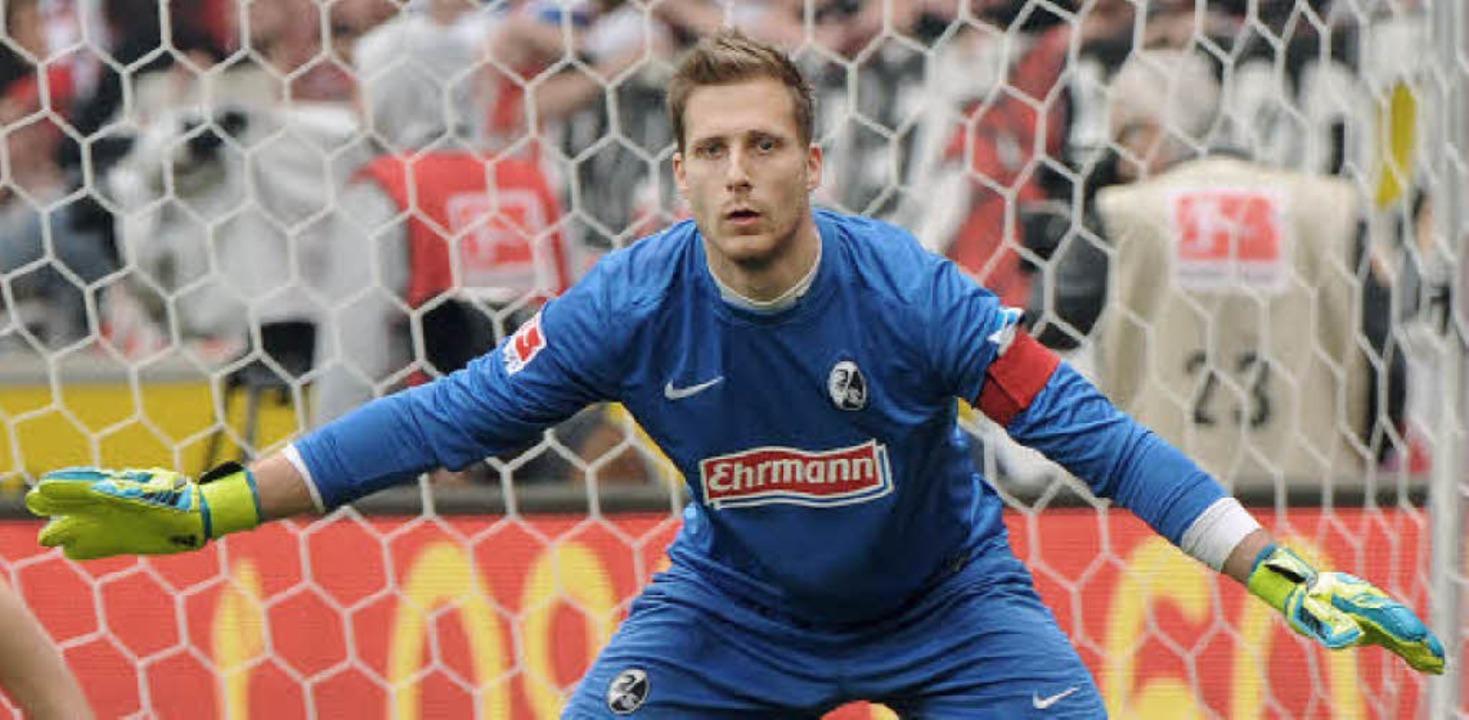 In  Freiburg ist Oliver Baumann zu einer echten Nummer eins gereift,<ppp></ppp>  | Foto: heuberger/dpa