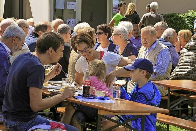 Beim Sommerfest der Siedlergemeinschaft gab's 116 Kilo Rollbraten