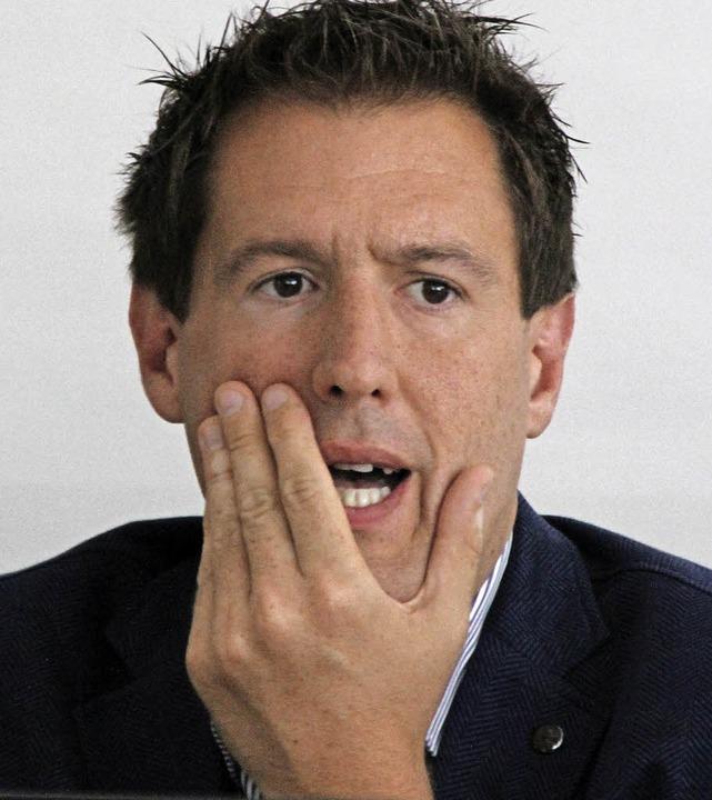 Musste sich im Gemeinderat kritischen ...er-IT-Geschäftsführer Felix Stiegeler   | Foto: Sabine Model