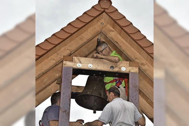 Neuer Glockenturm, alter Göpel