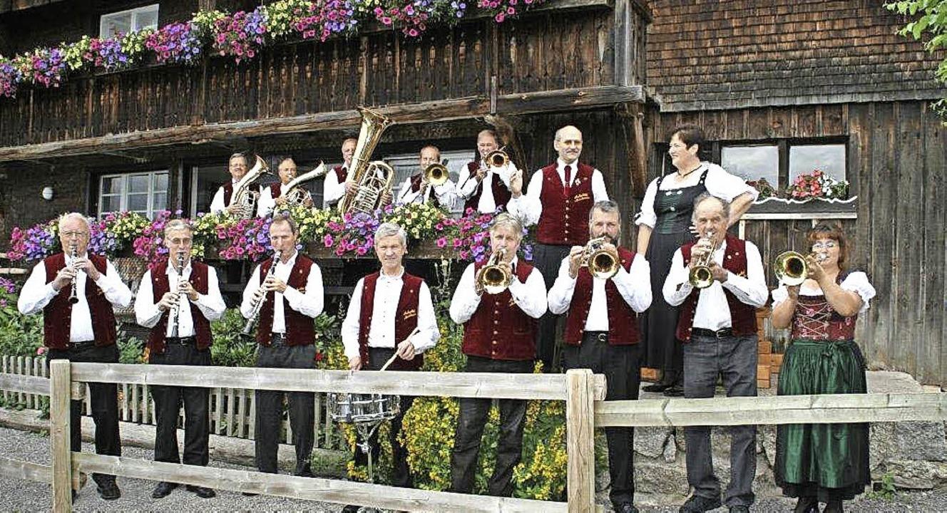 Die Aubachtal Musikanten unterhalten a...us mit böhmisch-mährischer Blasmusik.     Foto: Veranstalter