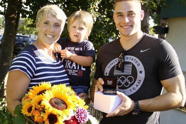 Die LG Offenburg ehrt ihre Speerwurf-Asse von Rio
