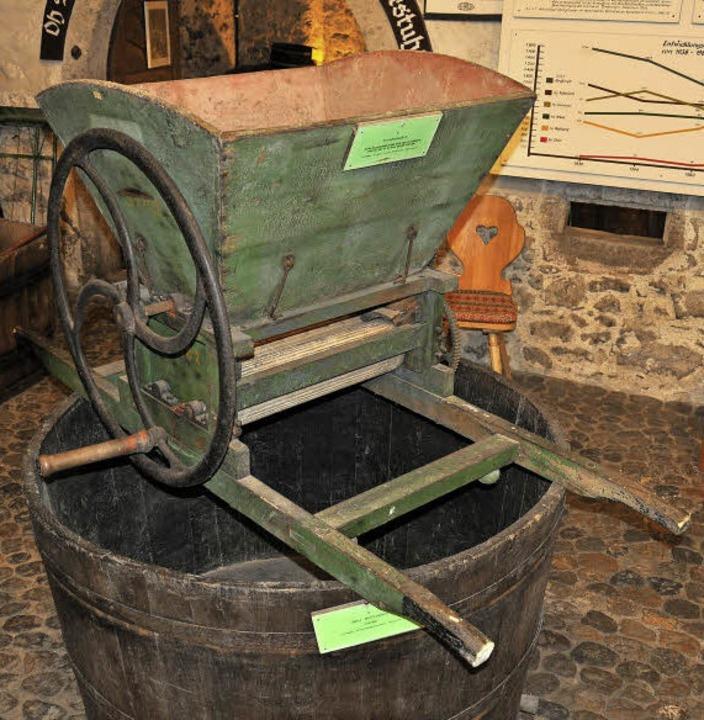 Im Weinbaumuseum in  Achkarren ist  di...hler Winzern in Gebrauch gewesen sein.  | Foto: Kai Kricheldorff