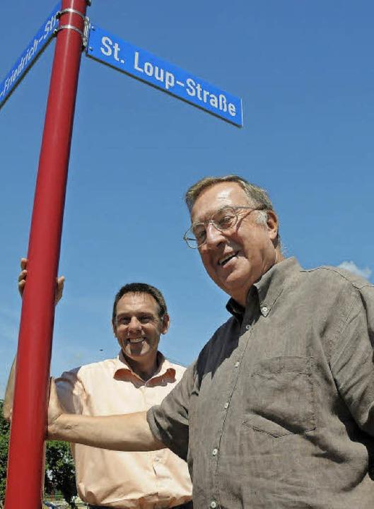 Ein Straßenname, der verpflichtet: Alt...1  in der Maulburger St. Loup-Straße.     Foto: Archiv: Robert Bergmann