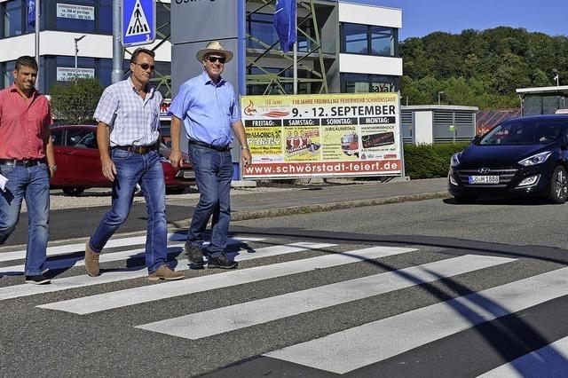 Stadt richtet drei neue Zebrastreifen ein