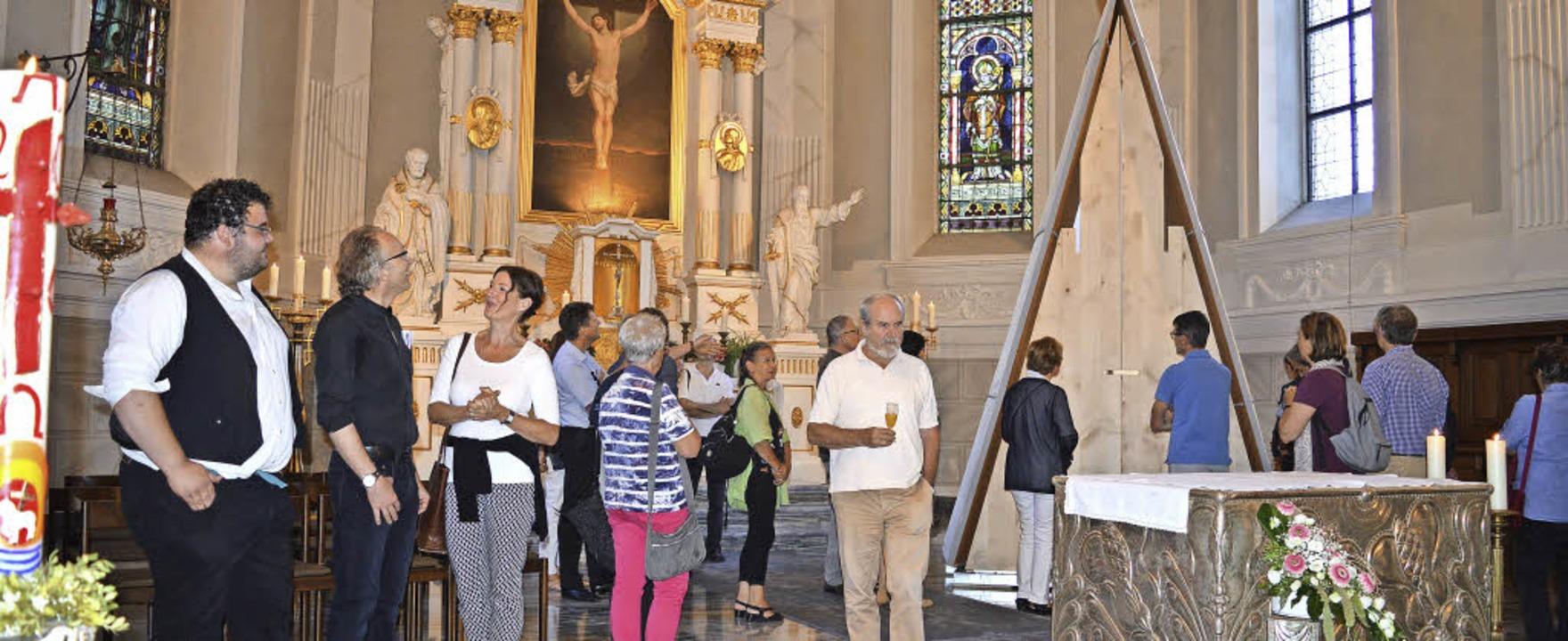 Viele Besucher haben das kapellenähnli...eranstaltung in der Kirche St. Zeno.    | Foto: Sandhya Hasswani