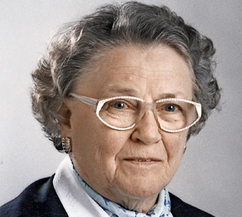 Franziska Hönig, wie sie alle kannten    | Foto: Foto Leofa
