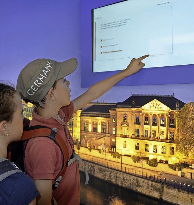 Beim Quiz können junge Besucher ihr Wissen testen.   | Foto: Sarah Beha