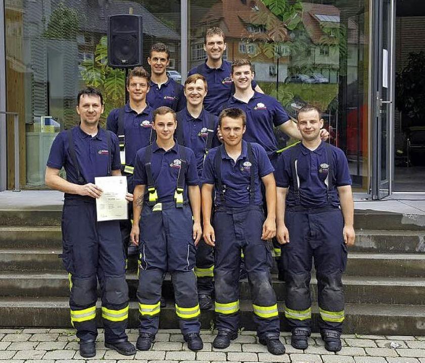 Das Leistungsabzeichen in Silber holte...e Feuerwehrleute der Abteilung Stadt.     Foto: Privat