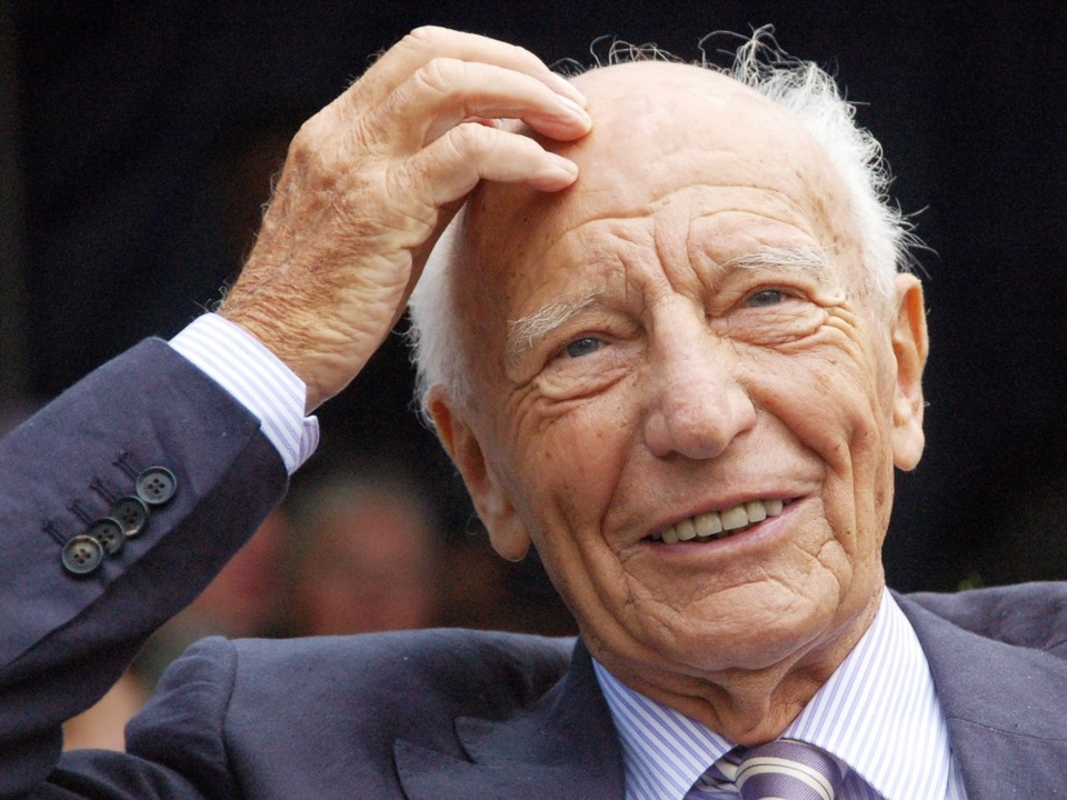 Er wurde ein Staatsmann: Walter  Schee...90. Geburtstag  2009 in Bad Krozingen   | Foto: Markus Donner/dpa