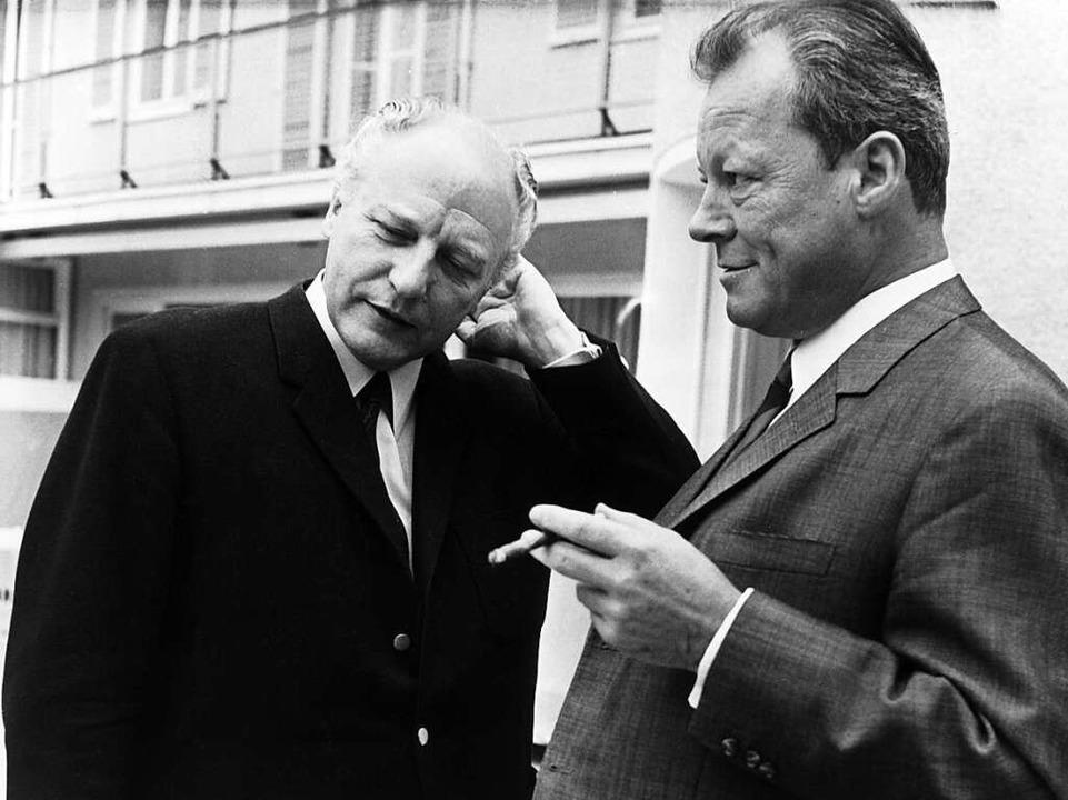 Männer des Machtwechsels: Scheel (l.), Brandt  | Foto: dpa
