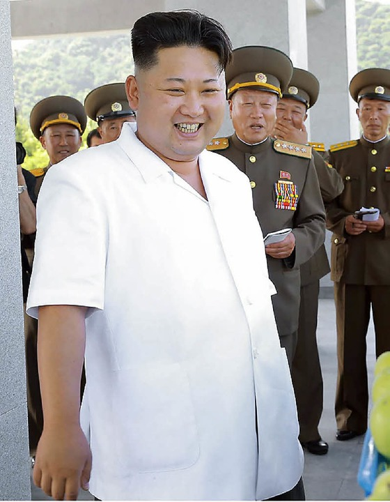 Spaß an der Provokation: Nordkoreas Diktator Kim Jong-un     Foto: AFP