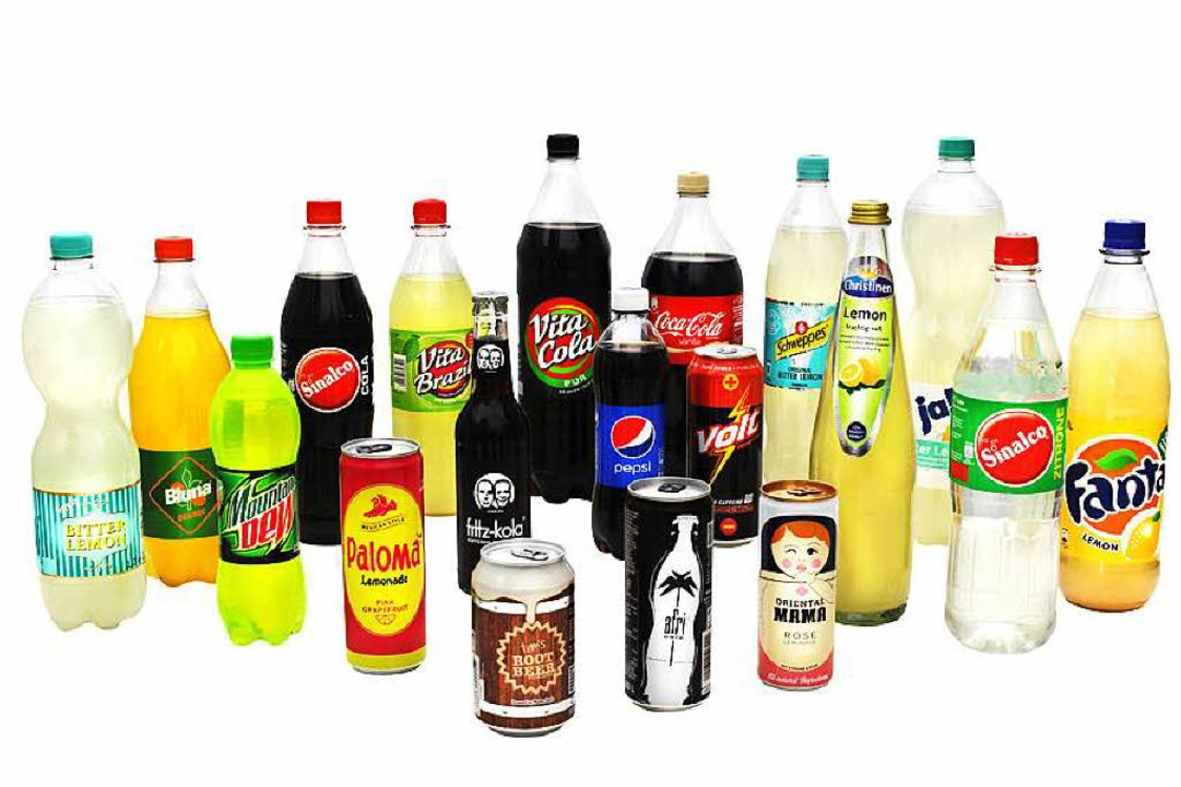In diesen Limonaden stecken zwischen 18 und 22 Zuckerwürfel pro halber Liter    Foto: bz