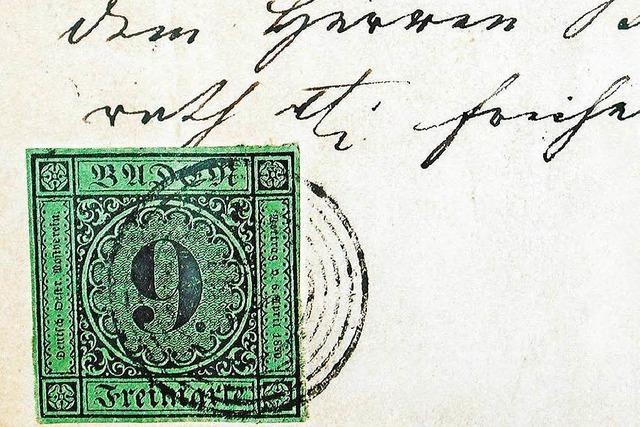 Teuerste Briefmarke Deutschlands wurde vor 165 Jahren in Ettenheim abgestempelt