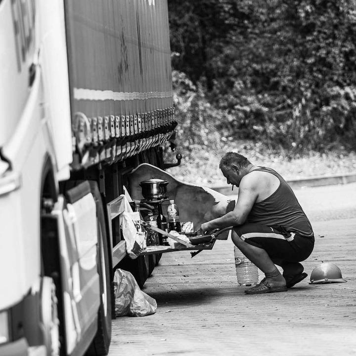 Trucker und Brummis am Wochenende ware...ner Fotoreportage von Carlotta Huber.   | Foto: Carlotta Huber