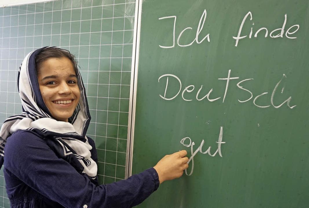 Es geht schon ganz gut: Auf Anhieb feh...asse der Gemeinschaftsschule in Wehr.     Foto: Ursula Freudig