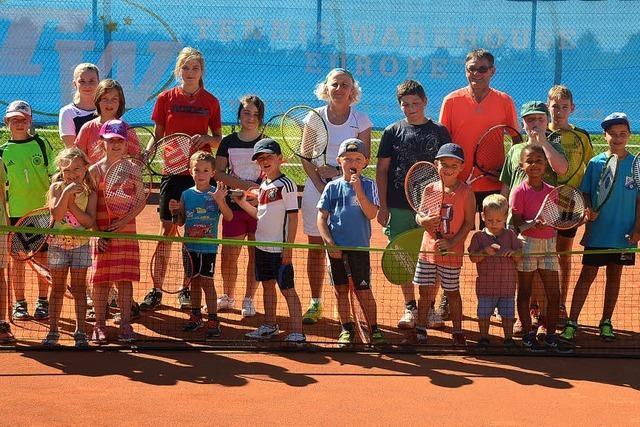 Erster Kontakt mit Tennissport