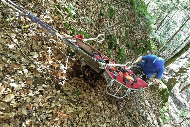 Abgelegenes, steiles Gelände machte Bergung schwer