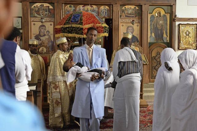 So feiern eritreische Christen in Freiburg