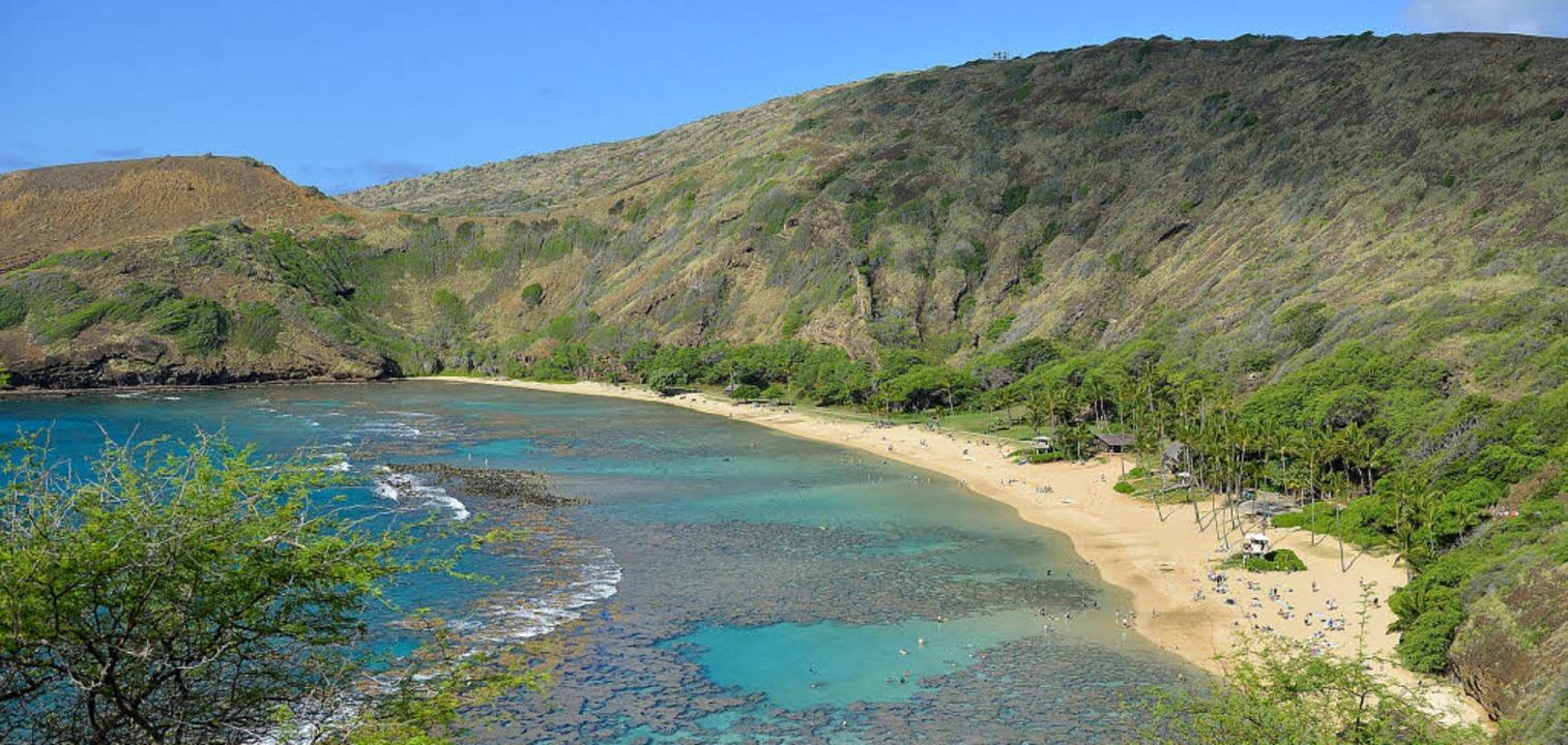 Die Hanauma Bay bei Honolulu gehört da... größten Meeresschutzgebiet der Welt.   | Foto: dpa