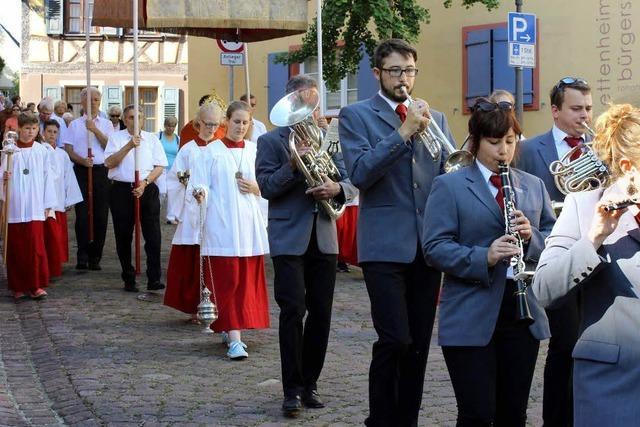 Prozession durch Ettenheim