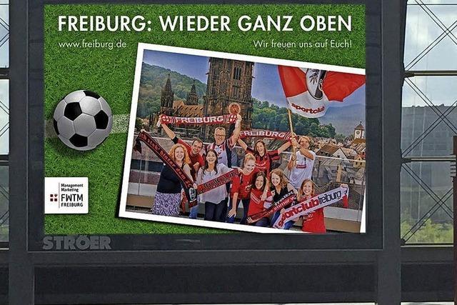 Freiburger Stadtmarketing wirbt mit alten SC-Trikots – Schwarzwaldmilch ist angesäuert