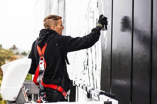 Deutschlands höchstes Graffito entsteht in Mannheim