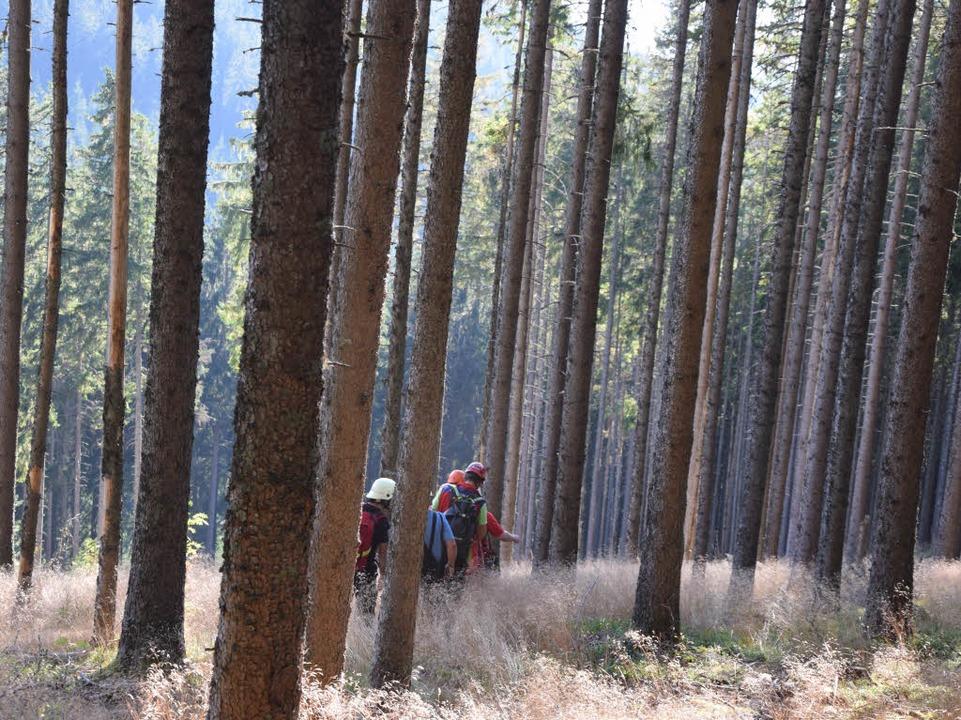 Großer Einsatz für die Bergwacht    Foto: Martin Ganz (kamera24.tv)