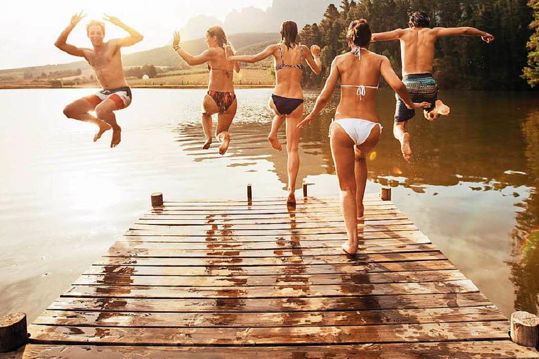 Nochmal rein in den See – wer weiß, wann das wieder geht?    Foto: Jacob Lund - Fotolia